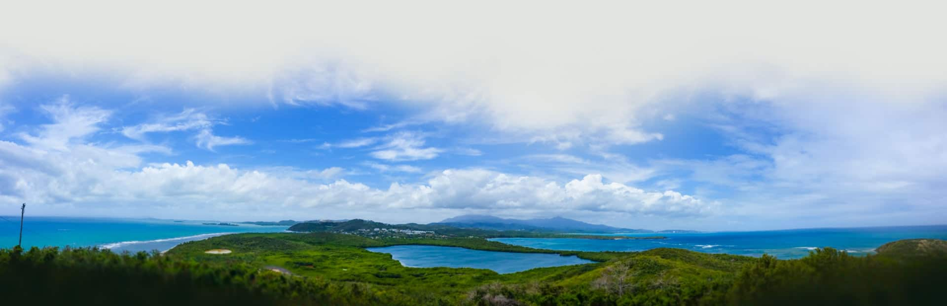 Panoramic view of Fajardo Bio Bay Bioluminescent Bay Puerto Rico